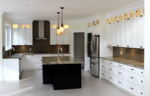 white wood custom kitchen